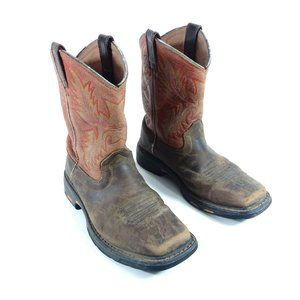 ARIAT Boots Youth Size 2 Brown Leather Cowboy West